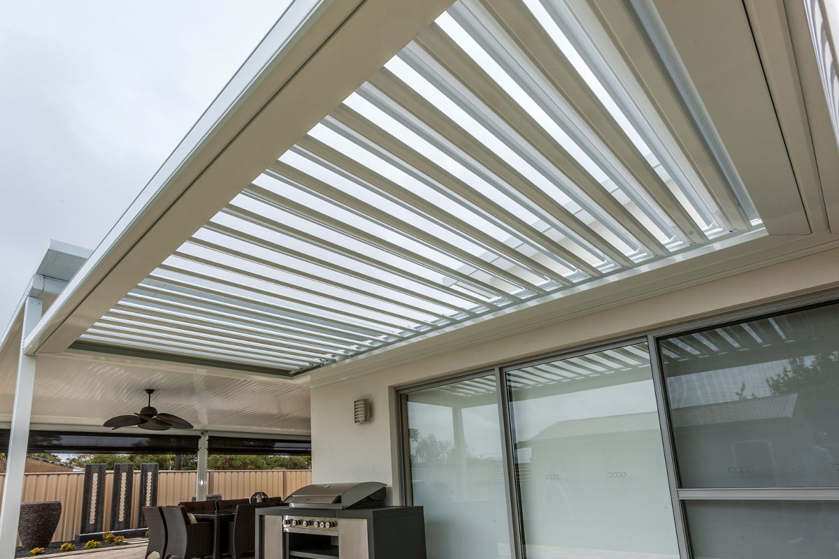 Beautiful Opening Roof Louvred Patios